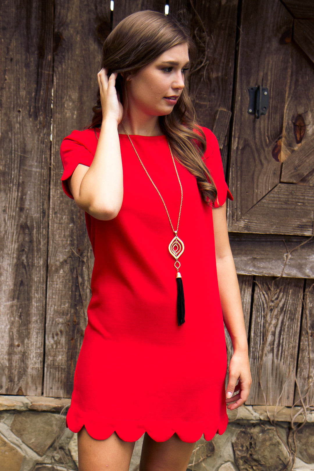 Class Act Dress - Red