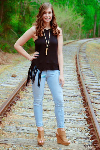 Feisty Fringe Tank