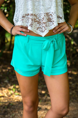 Vineyard Summer Shorts - Deep Mint