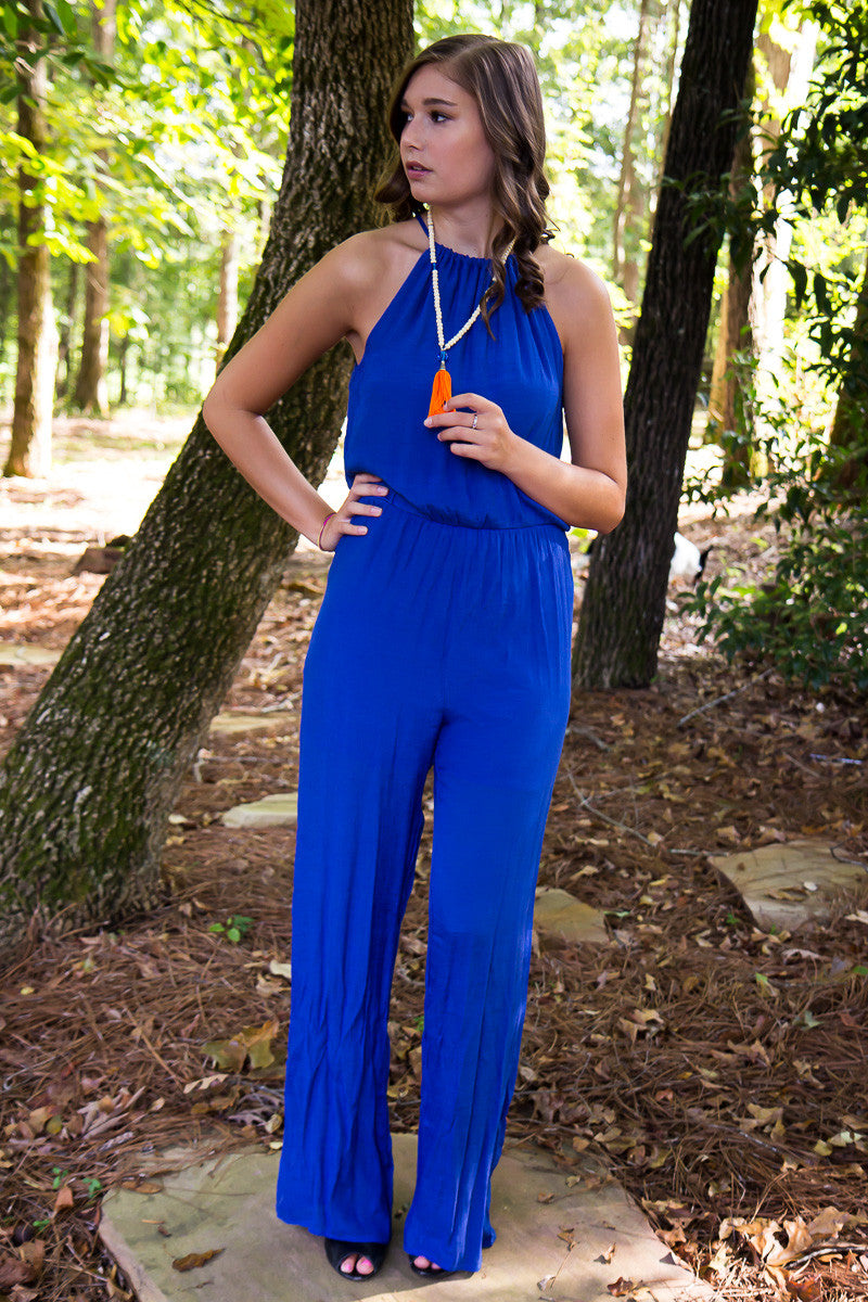 No Room For The Blues Jumpsuit