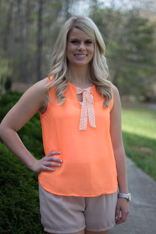 Dots and Bows Top - Final Sale