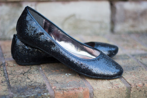 Shine In My Step Sequined Flats - Black