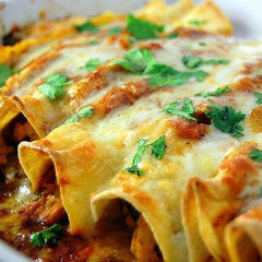 Chipotle Chicken Enchiladas (GF) - Tastefully Served
