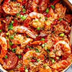 Jambalaya with Shrimp, Chicken and Sausage (GF)
