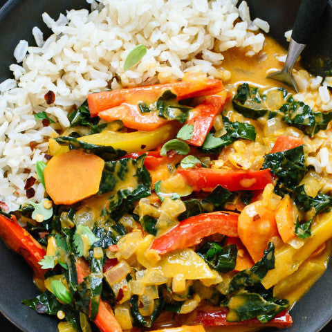Red Curry Vegetables and Tofu (V,GF)