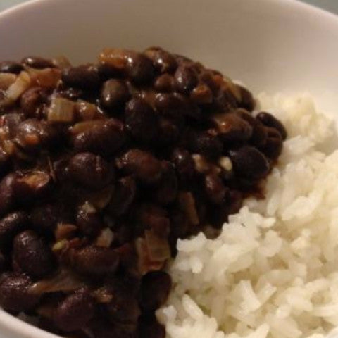Black Beans and Rice with Chipotle Crema and Zucchini (GF) - Tastefully Served - 1