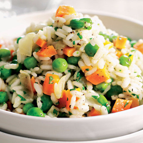 Pea and Carrot Risotto (GF) - Tastefully Served
