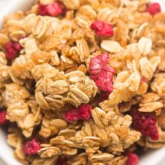 Orange & Almond Granola with Dried Cranberries