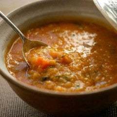 Red Lentil Soup with Tomatoes and Bell Peppers (V, GF)