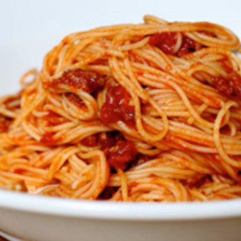 Spaghetti with Tomato Sauce - Tastefully Served