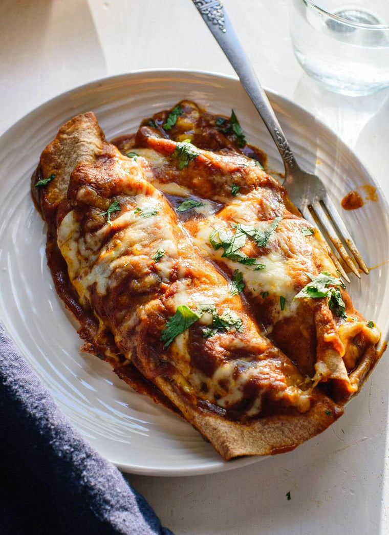 Sweet Potato & Black Bean Enchiladas (V)