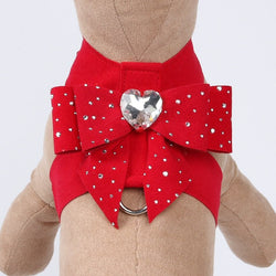 Tail Bow Heart with Stardust Tinkie Dog Harness by Susan Lanci Puppy's Home