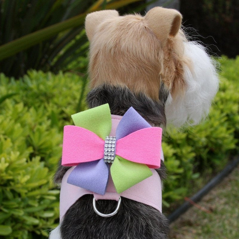 Madison Bow Swarovski Tinkie Dog Harness by Susan Lanci Puppy's Home