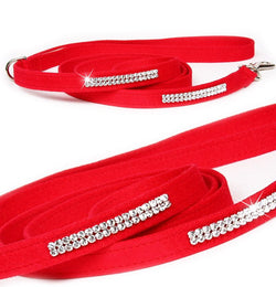 Giltmore 2-Row Swarovski Crystal Dog Leash by Susan Lanci Puppy's Home