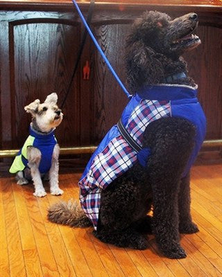 Alpine All-Weather Dog Coat - Black Plaid Puppy's Home