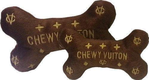 Chewy Vuiton Bone Toy Puppy's Home