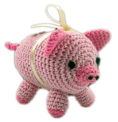 Piggy Hand-Crocheted Cotton Dog Squeaky Toy Puppy's Home