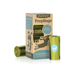 Earth Rated™ PoopBags Refill Unscented- Box of 8 rolls Puppy's Home