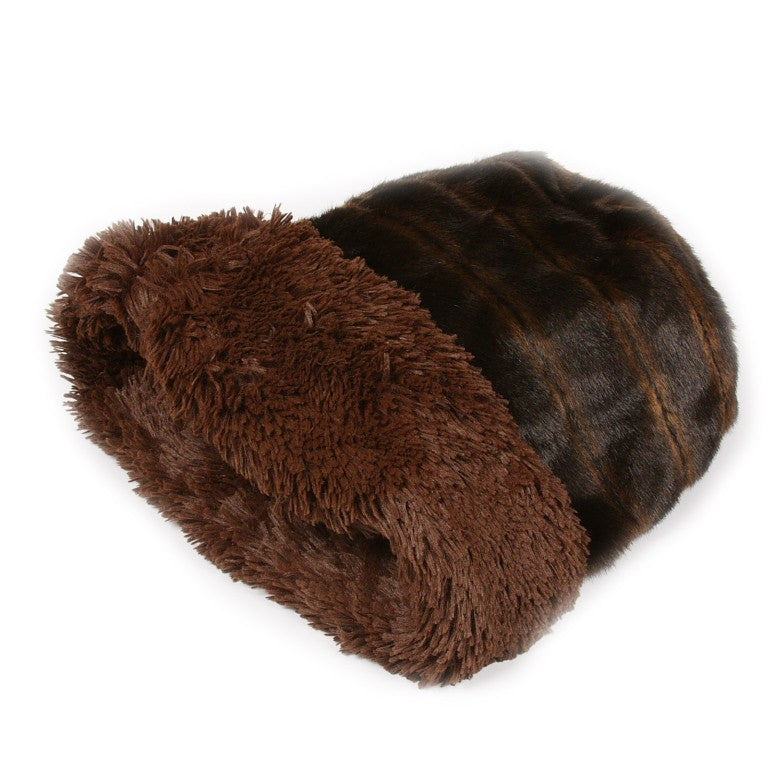Chocolate Shag Cuddle Cup by Susan Lanci Puppy's Home