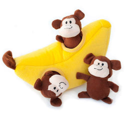 ZippyPaws Burrow- Monkey 'N Banana Puppy's Home