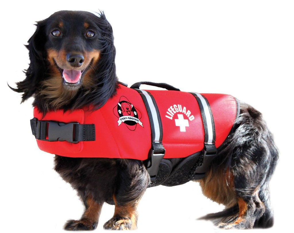 Lifeguard Red Neoprene Dog Life Jacket Puppy's Home