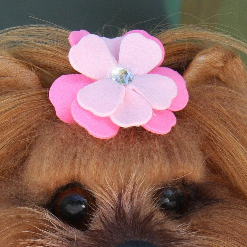 Alexandra Swarovski Crystal Dog Hair Bow by Susan Lanci Puppy's Home