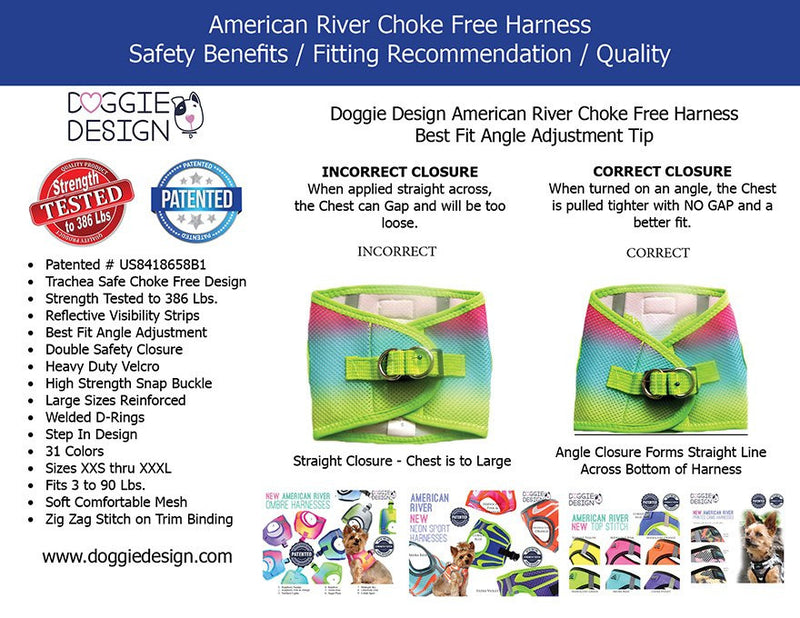 American River Ombre Step-In Dog Harness - Midnight Sky Puppy's Home