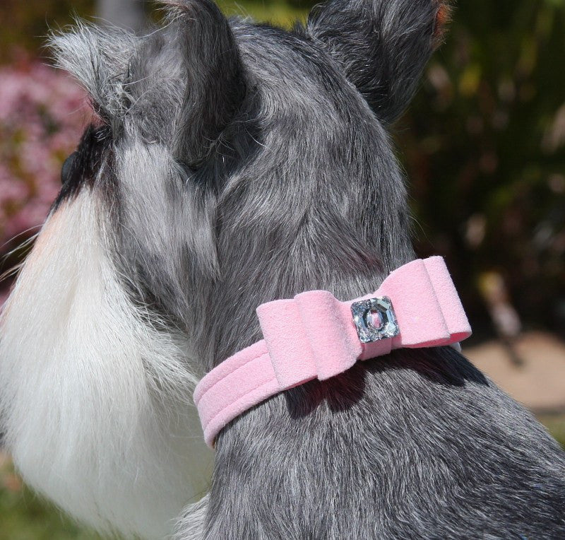 "Big Bow Dog Collar 1/2"" wide by Susan Lanci Puppy's Home"