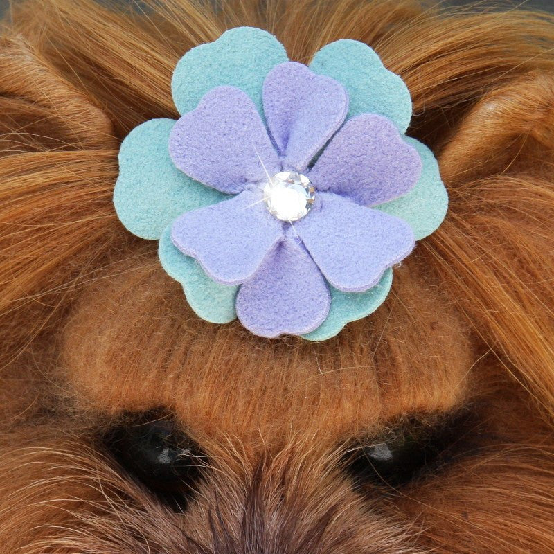 Emma Flowers Swarovski Crystal Dog Hair Bow by Susan Lanci Puppy's Home