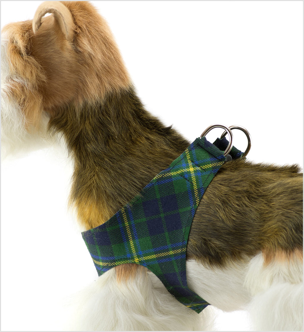 Forrest Plaid Plain Step-In Dog Harness by Susan Lanci