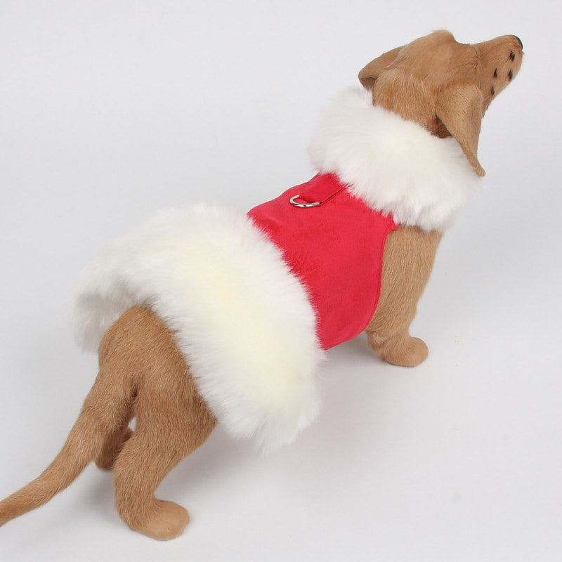 Holiday Fur Coat Harness by Susan Lanci Puppy's Home