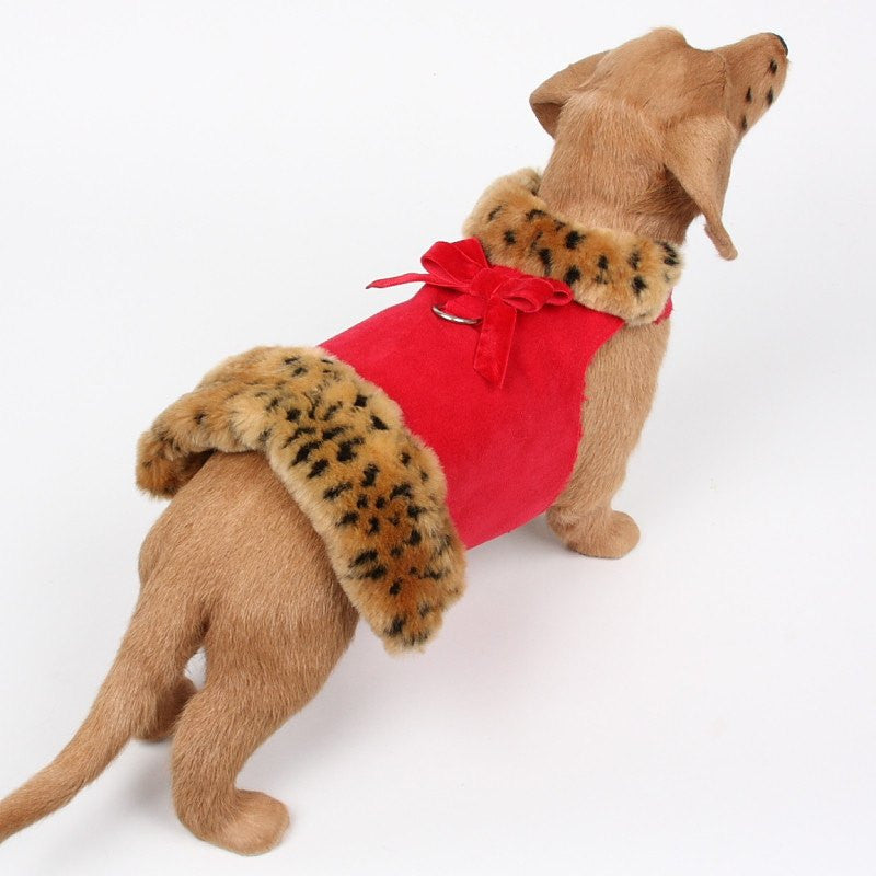 Leopard Muff Coat Harness by Susan Lanci Puppy's Home