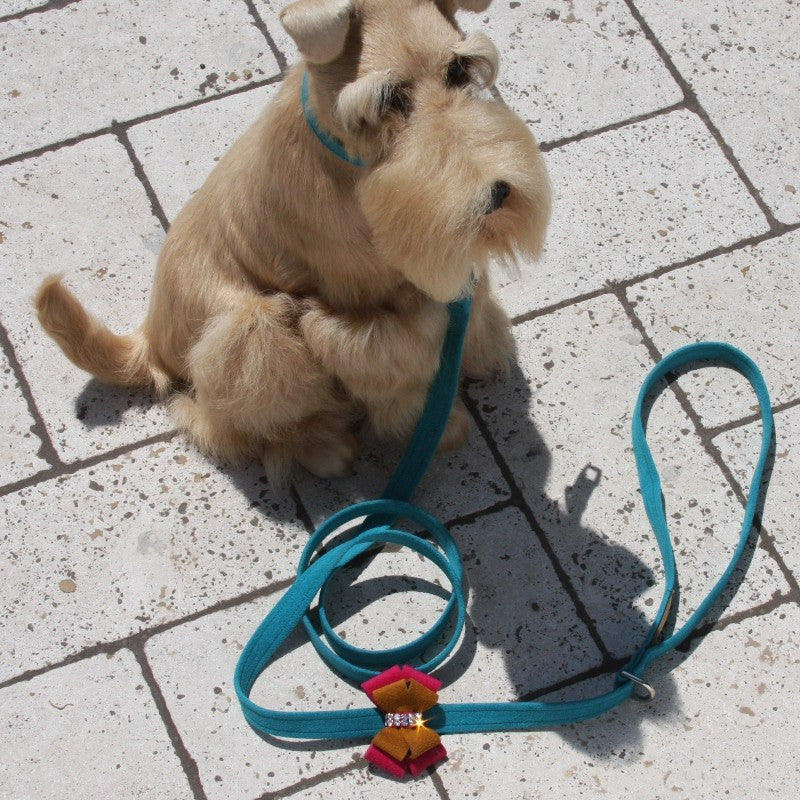 Isabella Double Bow Leash by Susan Lanci Puppy's Home