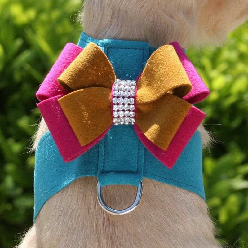 Isabella Double Bow Swarovski Tinkie Dog Harness by Susan Lanci Puppy's Home