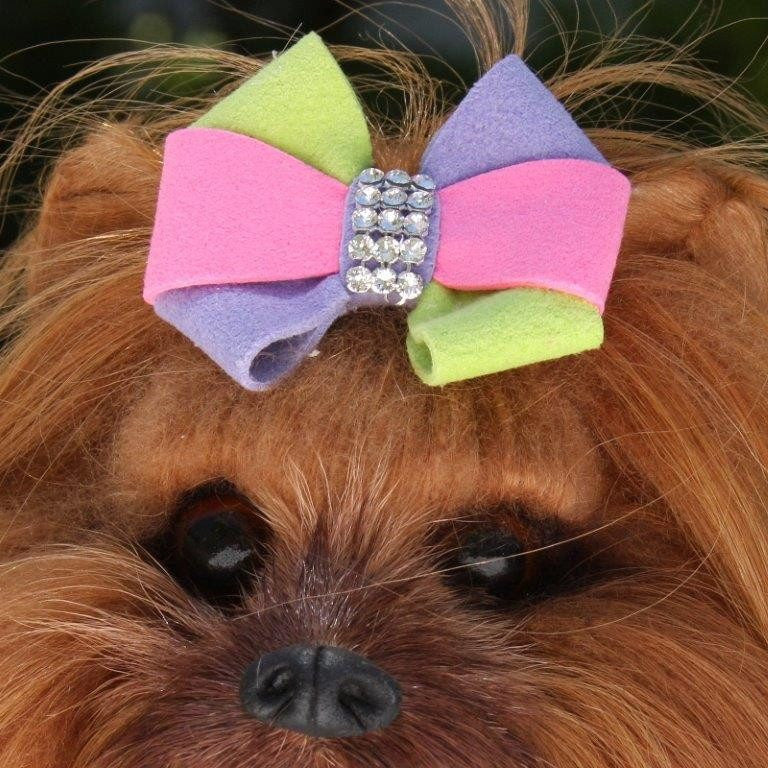 Madison Bow Swarovski Crystal Dog Hair Bow by Susan Lanci Puppy's Home
