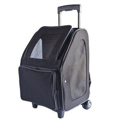 Rio Bag on Wheels Dog Carrier - Black Puppy's Home