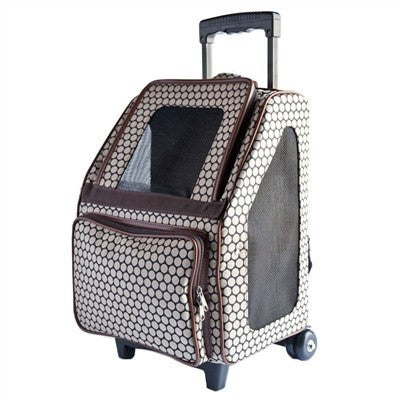 Rio Bag on Wheels Dog Carrier - Noir Dot Puppy's Home