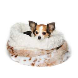 Arctic Leopard Curley Sue Dog Cuddle Cup by Susan Lanci Puppy's Home