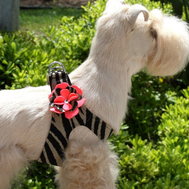 Sarah Serengeti Flowers Swarovski Crystal Step-In Dog Harness by Susan Lanci Puppy's Home