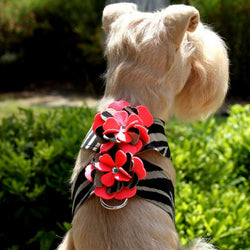 Sarah Serengeti Flowers Swarovski Tinkie Dog Harness by Susan Lanci Puppy's Home