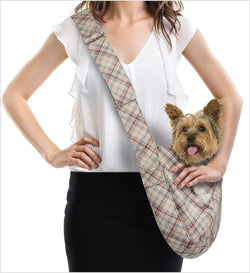 Scotty Doe Plaid Cuddle Dog Carrier by Susan Lanci