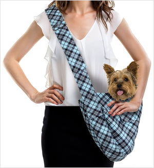 Scotty Tiffi Plaid Cuddle Dog Carrier by Susan Lanci