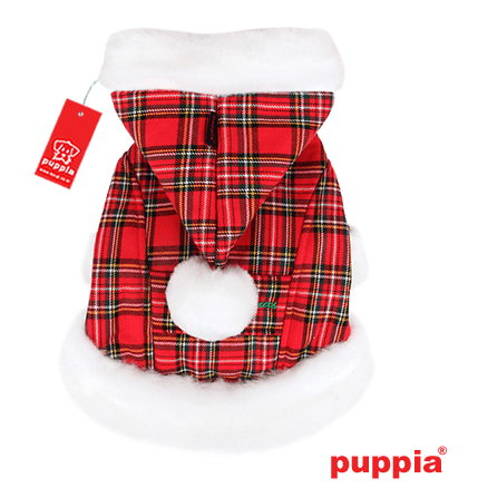 Santa's Dog Coat Checkered Red Puppy's Home