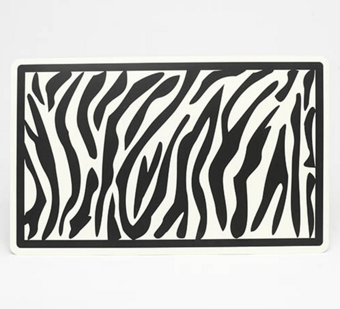 Zebra Placemat Puppy's Home
