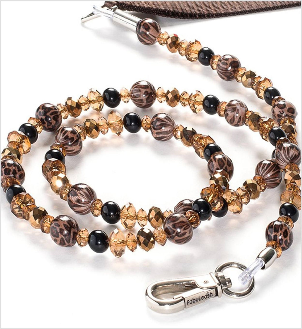 Animal Prints Beaded Luxury Dog Leash Puppy's Home