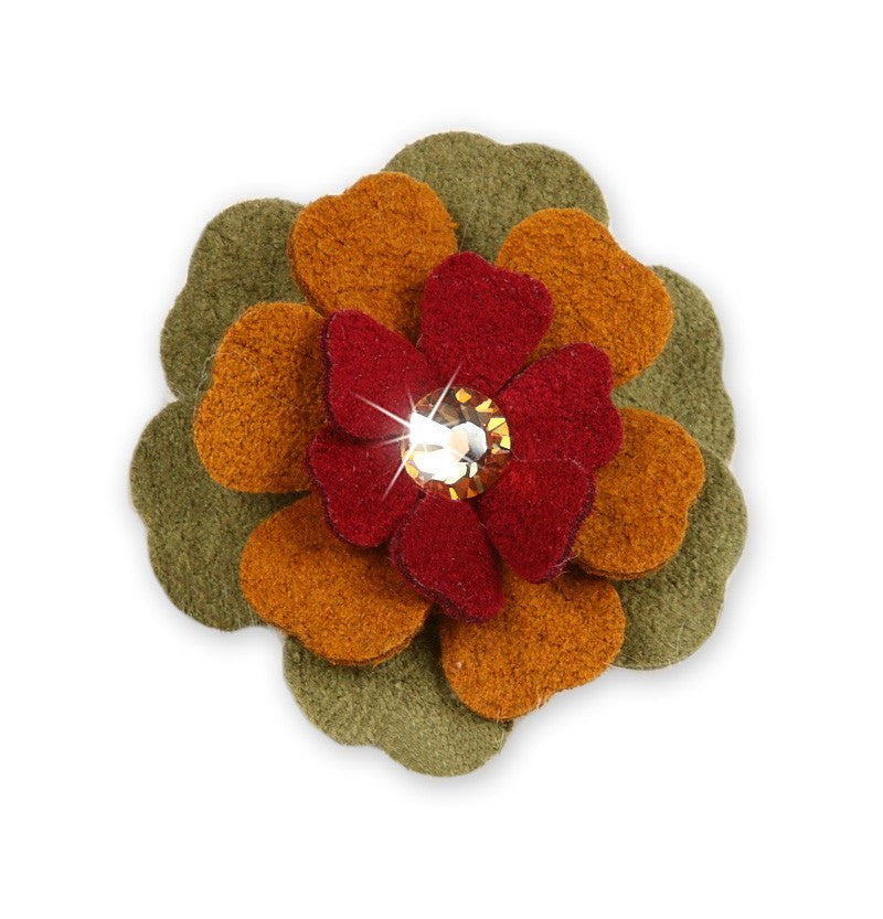 Autumn Flower Dog Hair Bow by Susan Lanci Puppy's Home