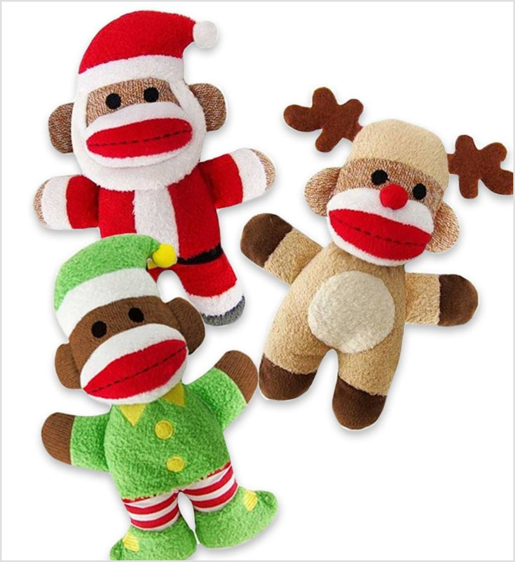 Holiday Baby Elf Sock Monkey Puppy's Home
