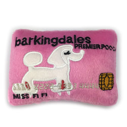 Barkingdales Credit Card Plush Dog Toy Puppy's Home
