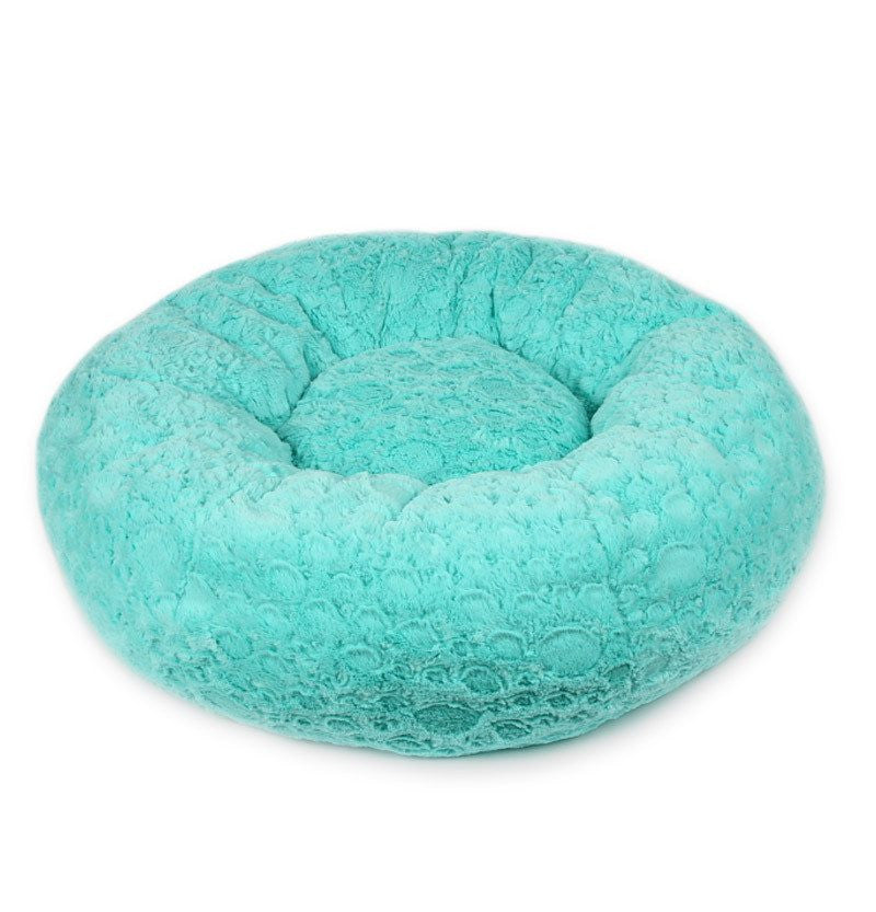 Bimini Blue Pebbles Cuddle Dog Bed by Susan Lanci Puppy's Home