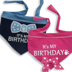 """It's My Birthday"" Dog Scarf Puppy's Home"